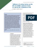evaluacion del riesgo en estabilidad de taludes