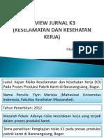 Review Jurnal k3