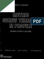 ASME B1.13 Metric Screw Threads, M Profile