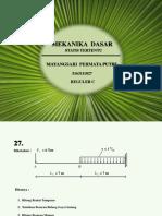 Mekanika Teknik | Tumpuan |Struktur Statis Tertentu | Soal dan Pembahasan | Unimed`17