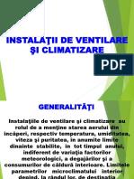 Intalatii de ventilare si climatizare