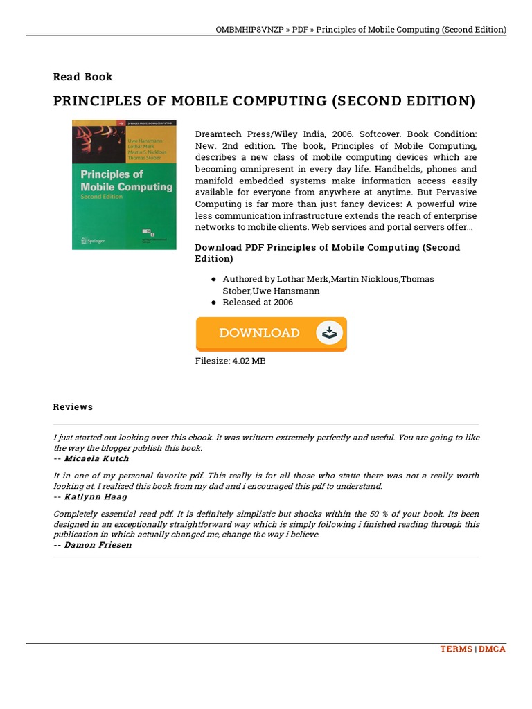 Principles of mobile computing second edition fandeluxe Image collections