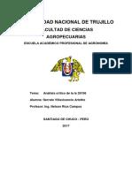 Análisis de La Ley N° 29196