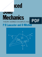 Advanced Solid Mechanics- Theory, Worked Examples and Problems