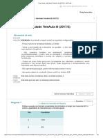 Matemática Aplicada Atividade TeleAula III