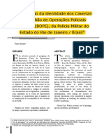 STORANI, Paulo. a Construção Da Identidade Dos Caveiras Do Bope