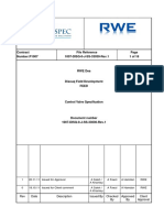 1007 DISQ 0 J SS 33030 Control Valve Specification