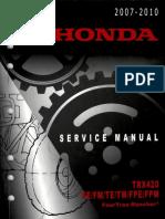 Manual de Taller Honda TRX420 FE FM TE TM FPE FPM 2007-2010 (Inglés)