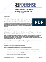 Law of Self Defense LEVEL 1 CLE CO Syllabus 171111 v170814
