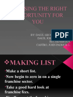 Choosing the Right Opportunity for You