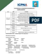 Cronograma de Activides de La i Muestra de Clausura 2017