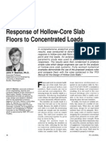 Response of Hollow-Core Slab Floors to Concentrated Loads