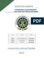Pengaruh Islam Terhadap Perkembangan Sains Dan Teknologi Barat