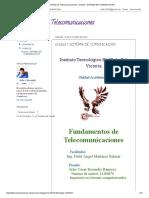 Fundamentos de Telecomunicaciones_ Unidad 1 SISTEMA de COMUNICACION
