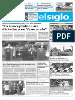 Edición Impresa El Siglo 14-08-17