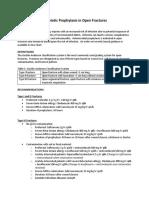 Antibiotic Prophylaxis in Open Fractures Guideline