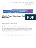 What is Power Balancing of Marine Engines