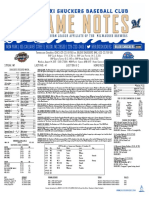 8.14.17 vs. TNS Game Notes