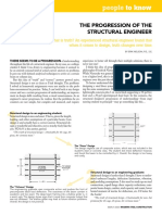 the progression of a structural eng