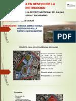 Gestion de Maquinaria Villa Deportiva Callao