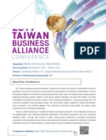 2017 Taiwan Busienss Alliance Conference