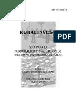 Un Guia Para La Formulacion y Evaluacion de Pequeñas Inversiones Rurales Fao