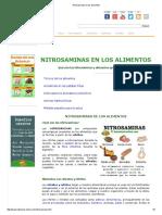 Nitrosaminas en Los Alimentos