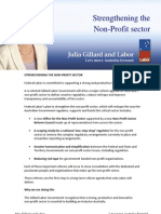 Historic Reforms to Australia's Not-For-Profit Sector Fact Sheet