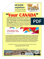 flier juried show your canada 2017