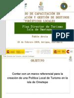 Presentación Plan Director Isla de Ometepe