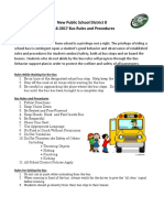bus rules and procedures