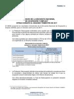 Resultados de la Encuesta Nacional de Ocupación y Empleo