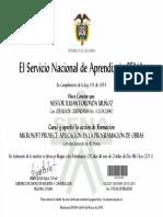 Certificado Project
