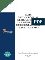 Bases Metodológicas de Promoción de La Salud Para La Implementación de La Política Safci