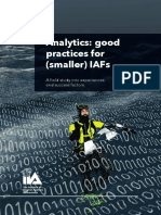 Analytics Good Practices IAF