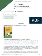 Resumo Do Livro_ Ortografia_ Ensinar e Aprender