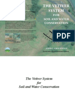 The Vetiver System for Soil and Wanter Conservation