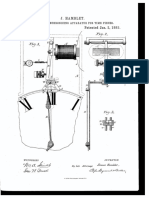 Hamblet 1883 Patent Electric Synchronizing Apparatus for Time Pieces US270058