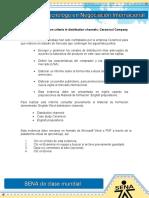 Evidencia 10 Selection Criteria in Distribution Channels; Ceramicol Company
