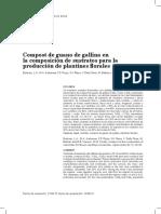 Compost de Guano de Gallina en La Composicion de Sustratos Ára La Produccion de Plantines Florales