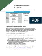 Présentation Détaillée Epreuves TCF2015