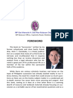 Foreword on Succession