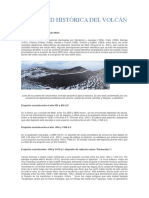 Actividad Histórica Del Volcán Misti
