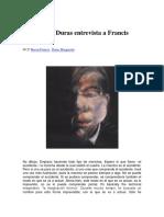 Entrevista de Marguerite Duras a Francis Bacon