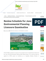 Review Schedule for June 2018 Environmental Planning Licensure Examination _ ATLAS-CPED
