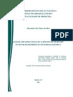 ANÁLISE ORGANIZACIONAL DE ACIDENTES DE TRABALHO NO SETOR DE DISTRIBUIÇÃO DE ENERGIA ELÉTRICA