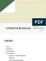 Lipoprotein Metabolism