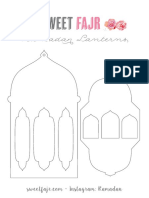image regarding Lantern Template Printable identify Ramadan Lanterns Template Cute Fajr