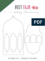 graphic regarding Lantern Template Printable referred to as Ramadan Lanterns Template Cute Fajr
