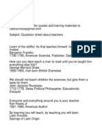 QBE Training Quotes About Teachers